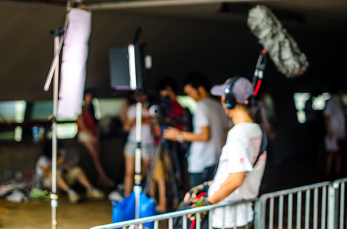 Camera crew on set